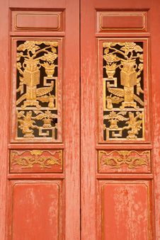 Free Chinese Style Wood Door Stock Photography - 8787902