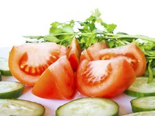 Free Cut Tomatoes Stock Image - 8788381