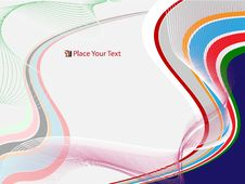Free Vector Abstract Design In Blue And Green Royalty Free Stock Photography - 8788947