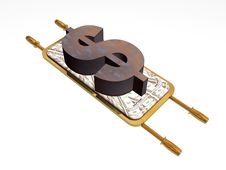 Free Dollar On The Stretcher Stock Photography - 8789872