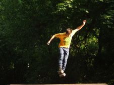 Free Airborne-roller-boy Royalty Free Stock Images - 87851339