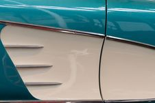Free Chevrolet Corvette 1958 Side Panel Detail Stock Image - 87853611