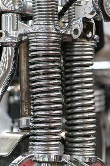 Free Custom Chopper Shock Springs Stock Images - 87854204