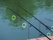 Free Fishing-rods-on-lake Royalty Free Stock Photography - 87854527