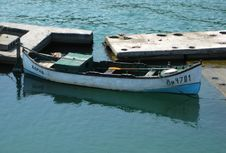 Free Fishing-boat-parked-at-the-docks Royalty Free Stock Images - 87854829
