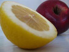 Free Halved-lemon-and-apple Royalty Free Stock Photo - 87855265