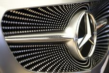 Free Photo Of Pattern On Mercedes Concept Car Front Grill. Silver Hexagons Create A Starry Sky Motif. Royalty Free Stock Images - 87856079