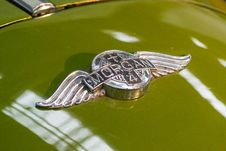 Free Morgan 4/4 Hood Ornament Stock Photo - 87856180
