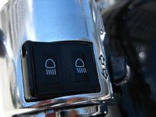 Free Motorcycle-headlights-switch Stock Image - 87856251