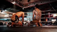 Free Two Thai Boxers In Ring Royalty Free Stock Photo - 87856375