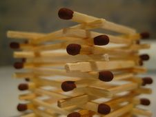 Free Matchstick-tower Royalty Free Stock Image - 87856486