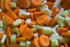 Free Sliced-carrots-parsley-and-kohlrabi Royalty Free Stock Photos - 87858588