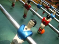 Free Table-football-player-close-up Stock Photography - 87859012