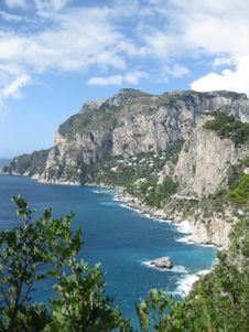 Free Capri Coastline Stock Photography - 87862602