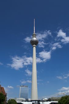 Free Berlin TV Tower In Alexanderplatz Stock Images - 87863044