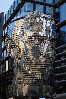Free Franz Kafka Head Rotating Sculpture Stock Image - 87863191