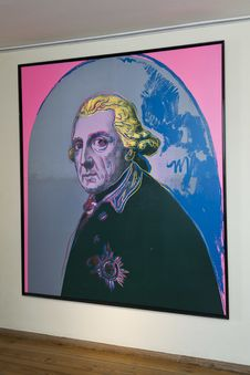 Free Frederick The Great Portrait By Andy Warhol Royalty Free Stock Photos - 87863218