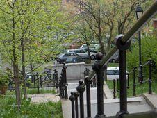 Free Metal-rail-for-stairway Stock Photos - 87863593