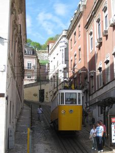 Free Lisbon-funicular-tramway Royalty Free Stock Photo - 87863635