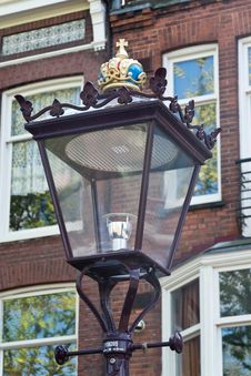 Free Ornate Lamp Post In Amsterdam Royalty Free Stock Photos - 87864078