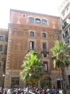 Free Palau-de-la-musica-catalana-facade Royalty Free Stock Photo - 87864175