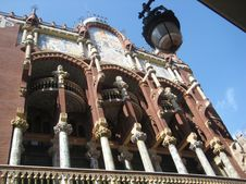 Free Palau-de-la-musica-catalana-detail Royalty Free Stock Photography - 87864257