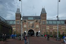 Free Rijksmuseum View From Museum Square Royalty Free Stock Photo - 87864555