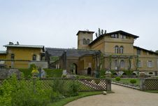 Free Italian Style Villa Built By Prince Frederick William, With Garden And Pergola Entrance. Stock Photos - 87864933