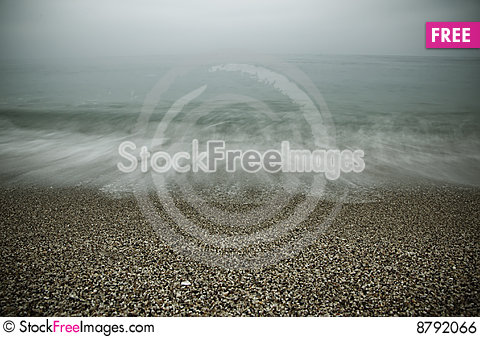 Waves in the shore Stock Photo