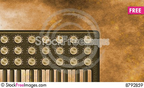Grunge sepia retro Keyboard background Stock Photo