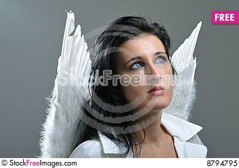 Beautiful angel Stock Photo