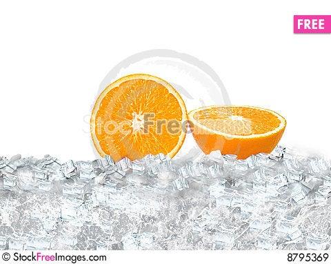 Orance Slice Stock Photo