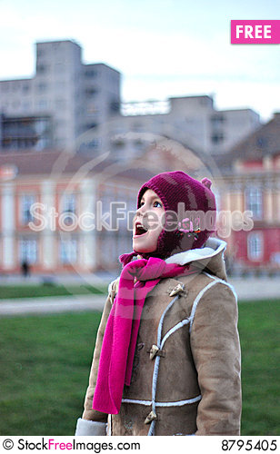 Girl lost in the city Stock Photo