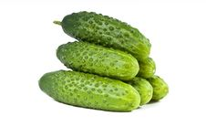 Green Cucumber Vegetable Fruits Stock Photos
