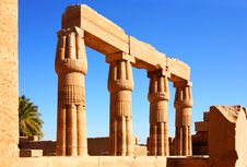 Egypt,Ruins Of Luxor Royalty Free Stock Photos