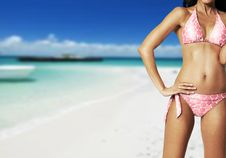 Free Woman On Tropical Island Royalty Free Stock Images - 8790649
