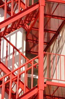 Free Red Fire Stair Royalty Free Stock Photo - 8791035