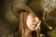 Free Sexy Smoker Cowgirl Stock Photo - 8791490