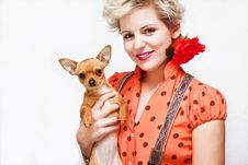 Free Woman And Pet Royalty Free Stock Images - 8791839