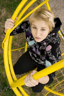 Free Girly Climbing On A Playground Royalty Free Stock Photography - 8791887