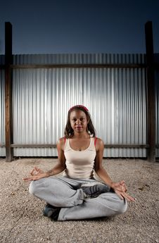 Free African-American Woman Meditating Royalty Free Stock Photos - 8791968