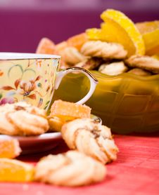 Free Cup Of Tea And Cookies Stock Photography - 8792292