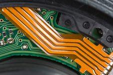 Free Circuitry Inside A Pro Lens Stock Photos - 8792543