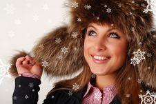 Free Woman In Fur Cap Stock Image - 8792671