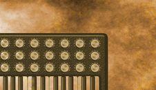 Free Grunge Sepia Retro Keyboard Background Royalty Free Stock Images - 8792859