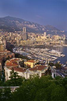 Monaco Marina And Monte  Carlo Stock Photography
