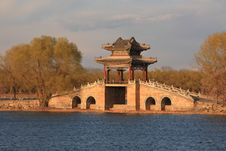 Free Pavilion On Bridge In The Summer Palace,beijing Royalty Free Stock Photo - 8793585