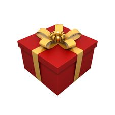 Free Gift With Gold Royalty Free Stock Photography - 8794427
