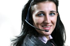 Free Woman With Headset Royalty Free Stock Images - 8794809