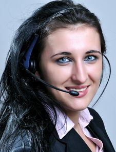 Free Women With Headset Stock Images - 8794814